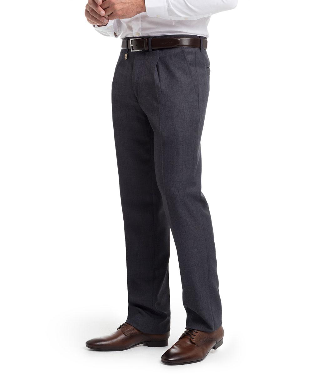 Pantalon Vestir Para Hombre Con Pinzas Y Tejido Sarga Fina De Verano